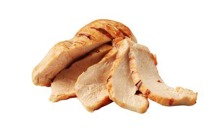 senos: Las rebanadas de pechuga de pollo a la parrilla