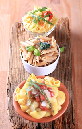 Vegetarian pasta appetizers or side dishes - still life photo