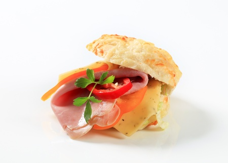 Ham and cheese sandwich - studio shot photo