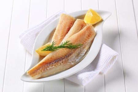 pan fried: Pan fritto filetti di pesce bianco