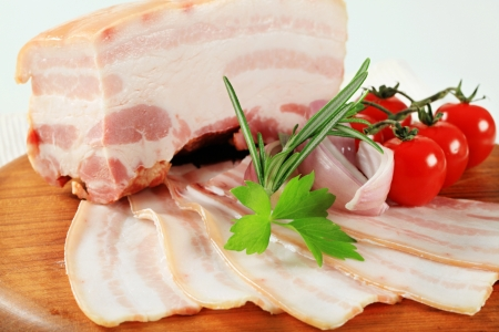 Slab of pork belly with rind Stock Photo - 15872301