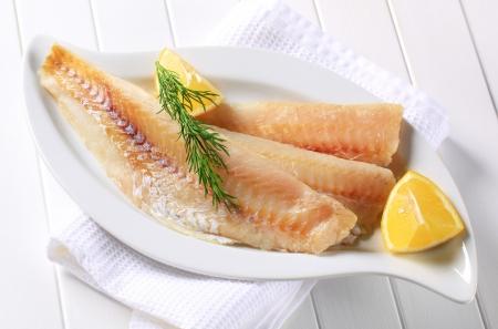 Opečenou bílé rybí filé