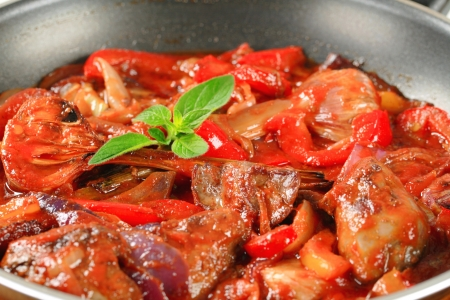 higado de pollo: Preparaci�n de h�gado de pollo salteado