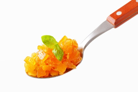 candied: Candied citrus peel coated in sugar-based glaze Stock Photo