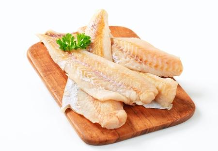 cod: Studio shot of fresh fish fillets