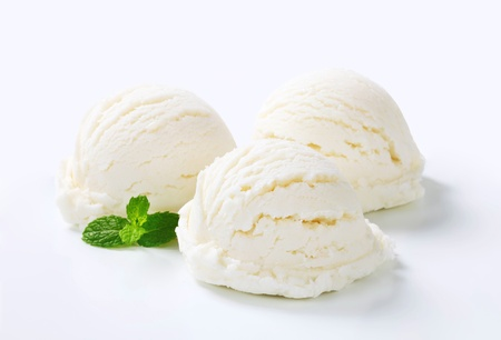 ice cream: Scoops of white creamy ice cream  Stock Photo