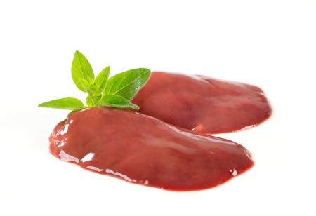 Studio shot of raw chicken liver Reklamní fotografie