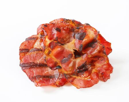 streaky: Crispy grilled slices of bacon