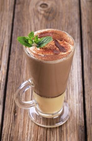 eggnog: Bebida Coffee con un shot de ponche de huevo