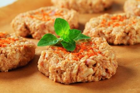 Syrové zeleninové karbanátky na pečení pergamenu