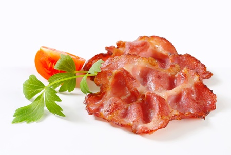 Crispy pan-fried slices of pork meat