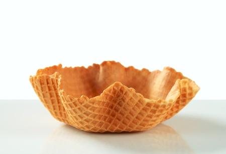 wafer: Vuoto dolce ciotola di wafer - girato in studio