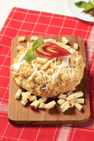 Sweet breakfast pastry with apple filling and crumb toppin Stock Photo - 20341193