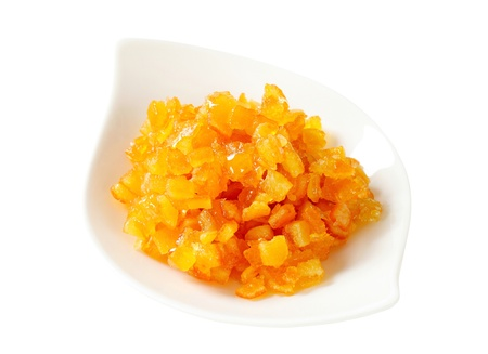 candied fruits: Bowl of orange or tangerine succade