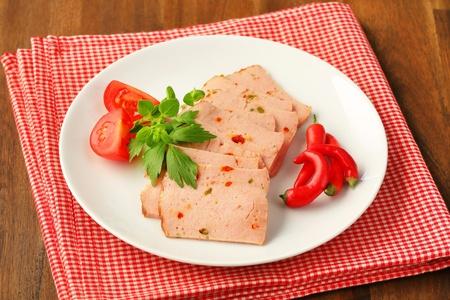 albondigas: Lonchas de pastel de carne al estilo alem?n Foto de archivo