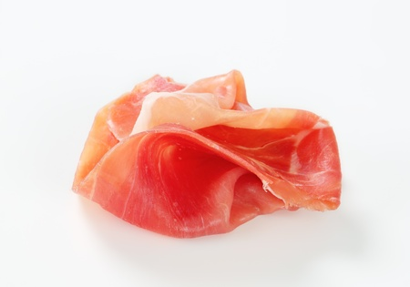 cured: Thin slice of dry cured smoked ham