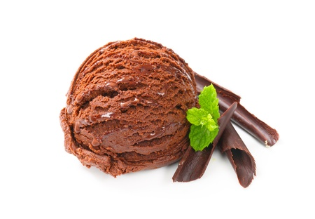 Scoop of chocolate ice cream photo