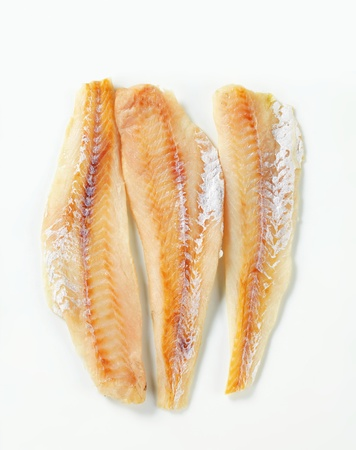 Studio shot of whitefish fillets Stok Fotoğraf