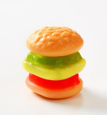 gummi: Studio colpo di gummi hamburger caramelle Archivio Fotografico