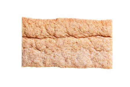 crispbread: Thin intero biscottate grano isolato su bianco Archivio Fotografico