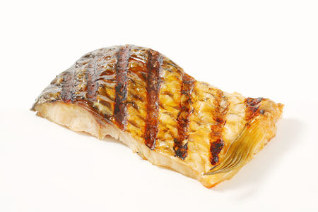 Grilled carp fillet - studio shot photo