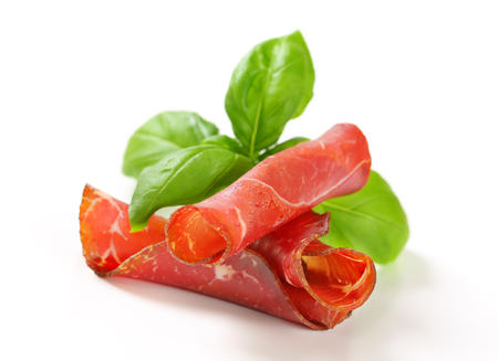 appenzeller: Slices of smoked marinated beef - rolled up
