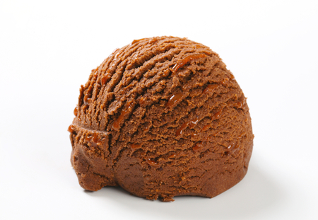 chocolate ice cream: Cucharada de brownie de chocolate helado