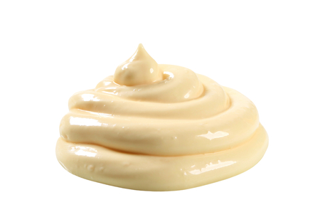 Swirl of thick creamy sauce - cutout