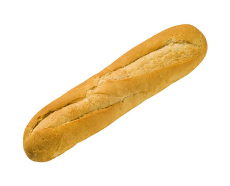 crusty: Crusty Baguette - isolated on white Stock Photo