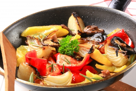 sauteed: Pan fried vegetables and mushrooms