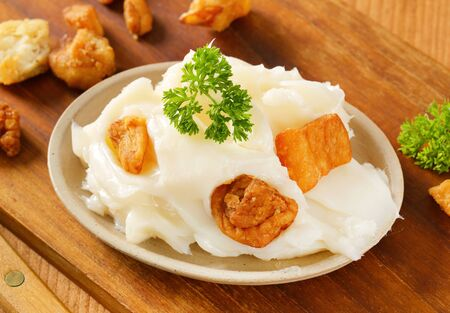 greaves: Pork fat spread with crispy greaves
