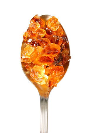 Brown rock candy with fine caramel flavor photo