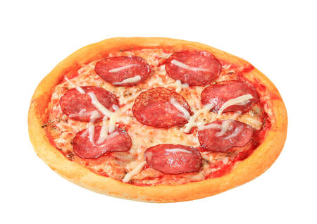 Fresh baked Pizza Pepperoni - studio shot photo