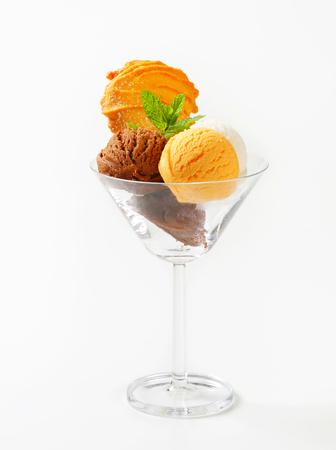 spritz: Scoops of ice cream garnished with Spritz cookie