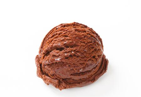ice cream chocolate: Scoop of chocolate ice cream