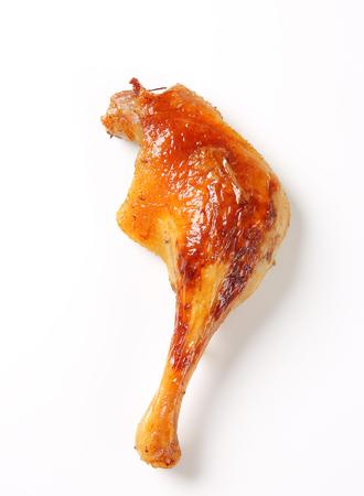 Roast duck leg with crispy skin photo