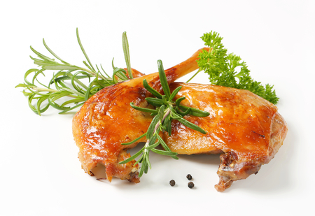 Rosemary scented roast duck legs