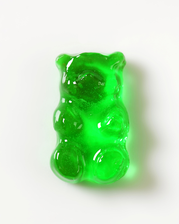 Gummy: Green apple gummy bear candy