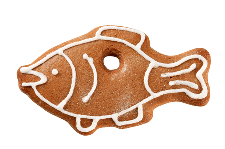 gingerbread cookie: Gingerbread cookie in the shape of a carp