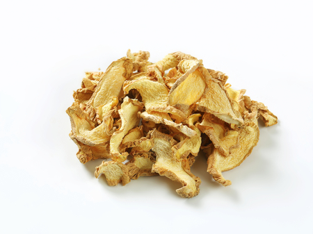 thinly: Dried thinly sliced ginger root