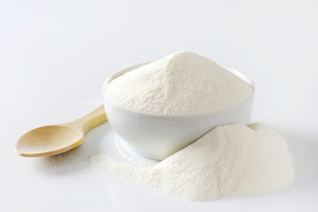 Bowl of full cream powdered milk