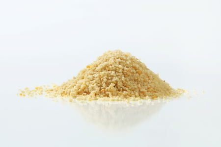 breading: Pile of dry bread crumbs Stock Photo