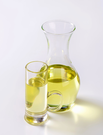 cooking oil: Cooking oil in a carafe