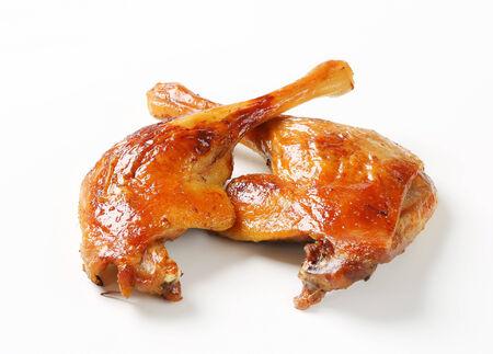Roast duck legs with crispy skin photo