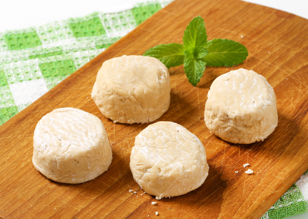 goody: Polvorones are a common Christmas dessert in Spain or wedding cakes in Mexico Stock Photo