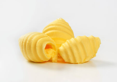 curls: Studio shot of butter curls