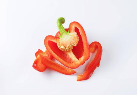 red bell pepper: Half a red bell pepper