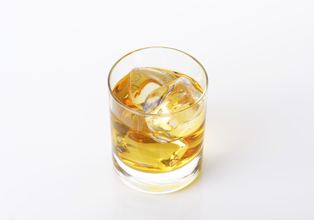 tumbler: Iced drink in a whiskey tumbler Stock Photo