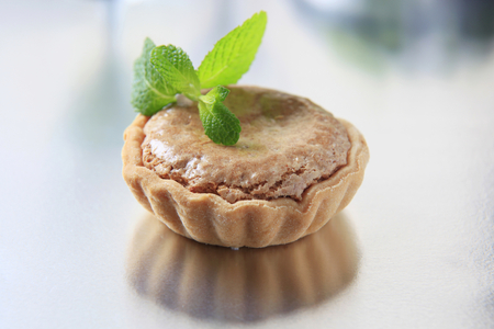 tartlet: Small shortbread tart shell with nut filling