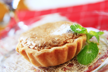 shortbread: Small shortbread tart shell with nut filling